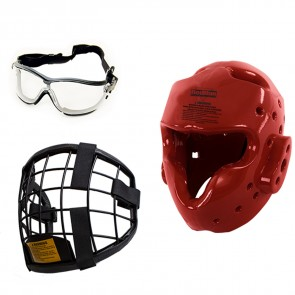 Set Casco de defensa personal